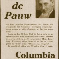 Pauw, Dick de – orkesterledare, violinist