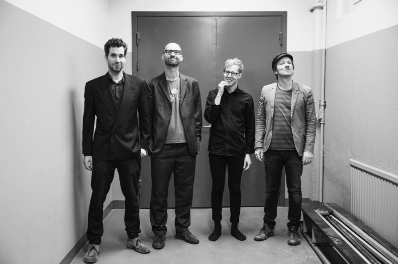 Per Texas Johansson, Mattias Ståhl, Konrad Agnas och Johan Lindström. Foto: Tina Axelsson