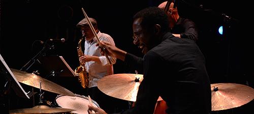 Brian Blade + Koppel / Colley / Blade Collective på Summer Jazz 2014. Foto: Jannik Knudsen