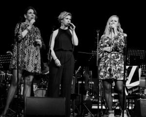 Vivian Buczek, Anna Pauline Andersson och Hannah Svensson – här som gruppen Sophisticated Ladies. Foto: Lasse Seger