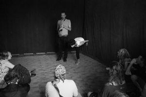 Jean-Luc Guionnet & Lotus Eddé Khouri. Foto: Veronica Eriksson