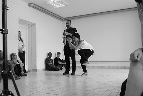 Jean-Luc Guionnet och Lotus Eddé Khouri. Foto: Veronica Eriksson