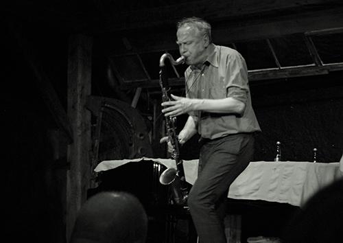 Rudi Mahall i Der Lange, Der Junge und der Dicke. Foto: Veronica Eriksson