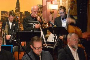 Bertil Strandberg och delar av Stockholm Jazz Orchestra. Foto: Anders Olofsson