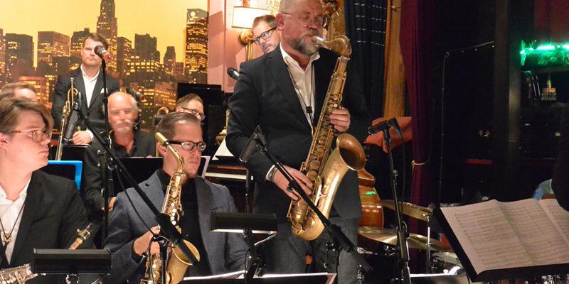 Karl Martin Almqvist och delar av Stockholm Jazz Orchestra. Foto: Anders Olofsson