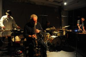 Evan Parker playing with birds