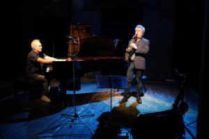 Mattias Risberg och Fredrik Ljungkvist på Festivitazz/Teaterstudio Lederman