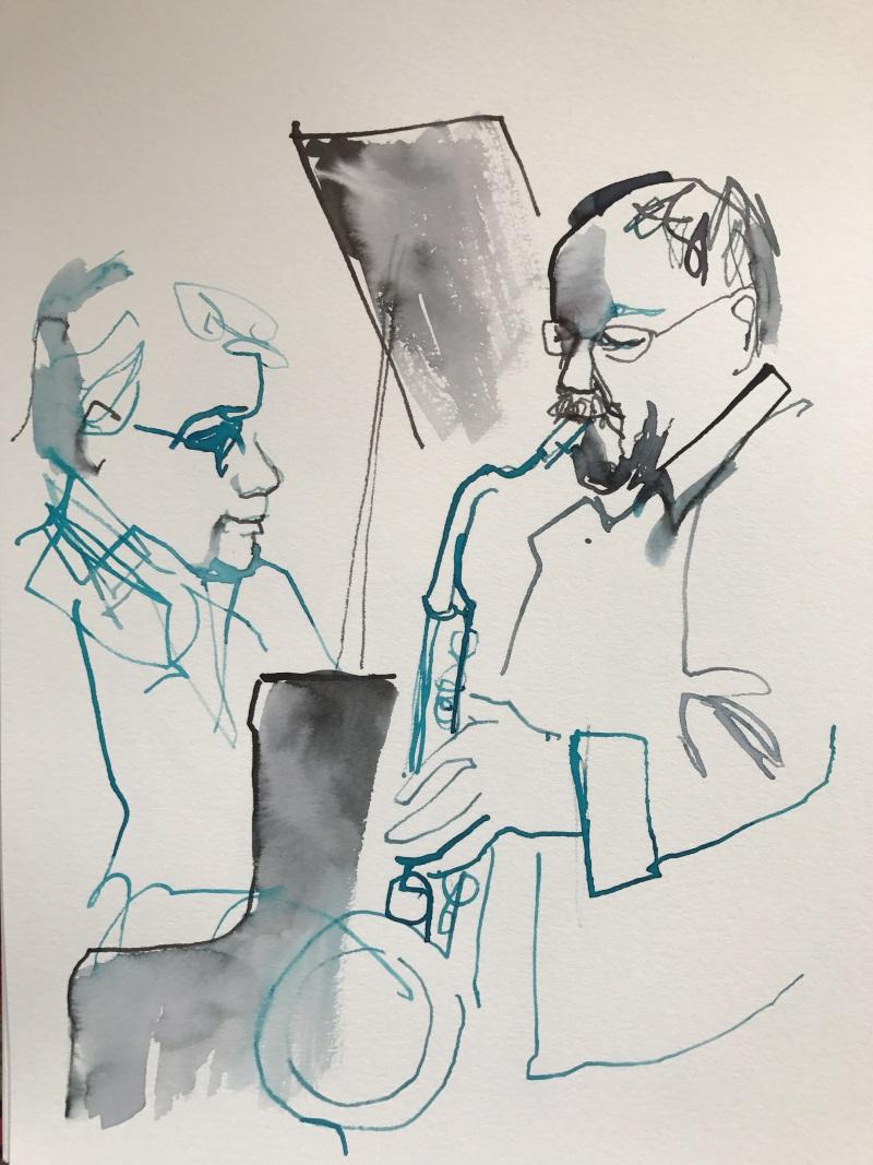 Bobo Stenson och Lennart Åberg