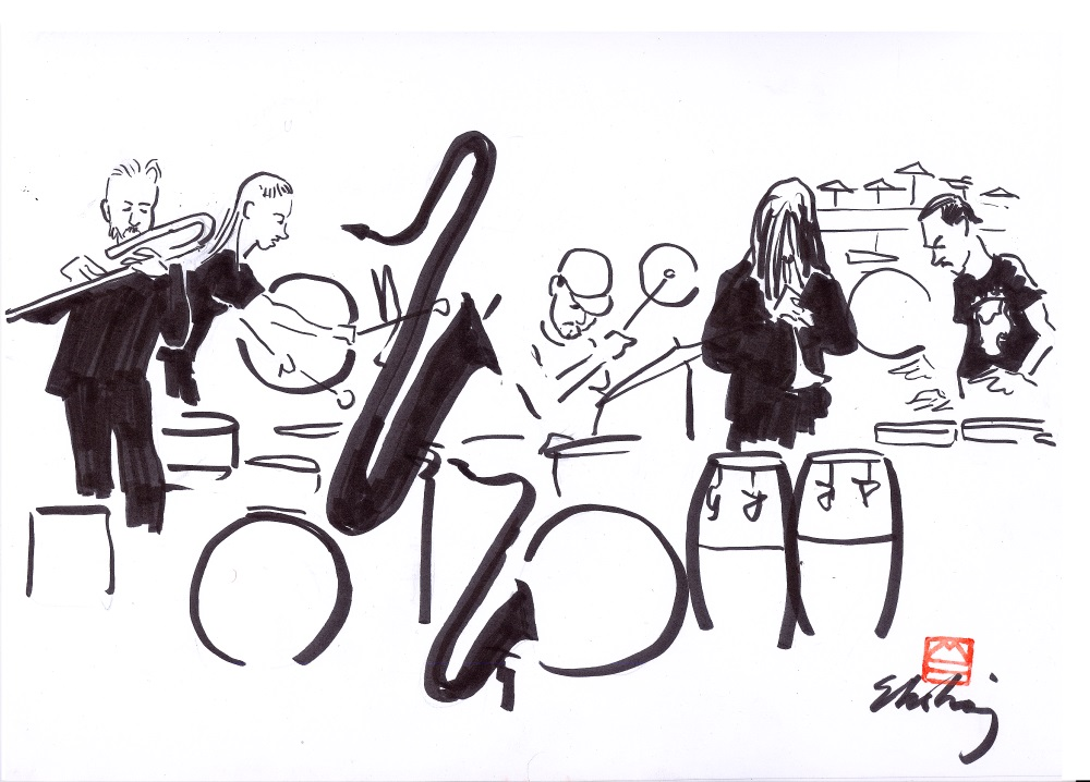 Goran Kajfeš & Jonas Kullhammar Percussion Ensemble