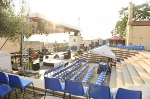 Konsertplatsen i Sant'Anna Arresi