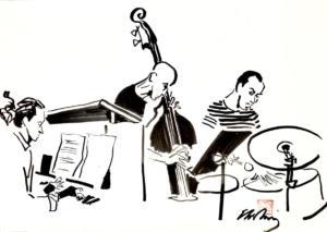 Alex Zethson (piano), Johan Berthling (kontrabas), Johan Holmegard (trummor)